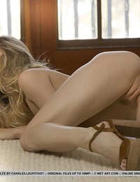 Ivy Wolfe bares her tight body as she sensually strips in the living room.