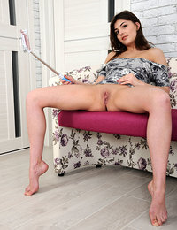 Monika Dee shows off her nubile body and smooth puss as she takes selfie.